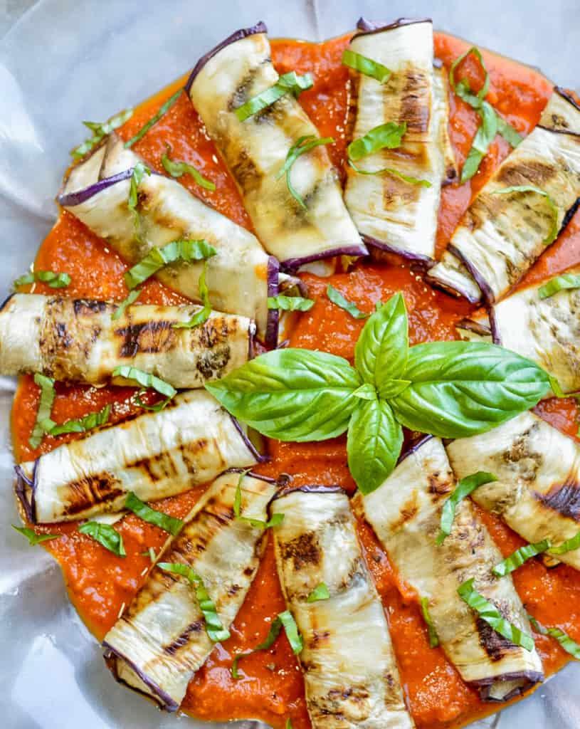 Eggplant Rollatini close up
