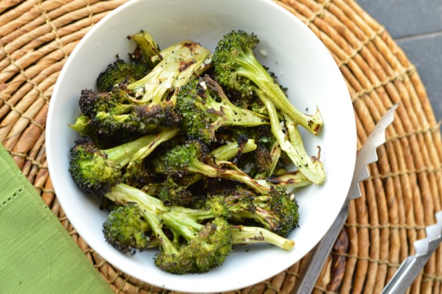 Grilled Broccoli with Garlic