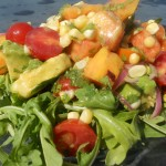 tomato peach avocado salad