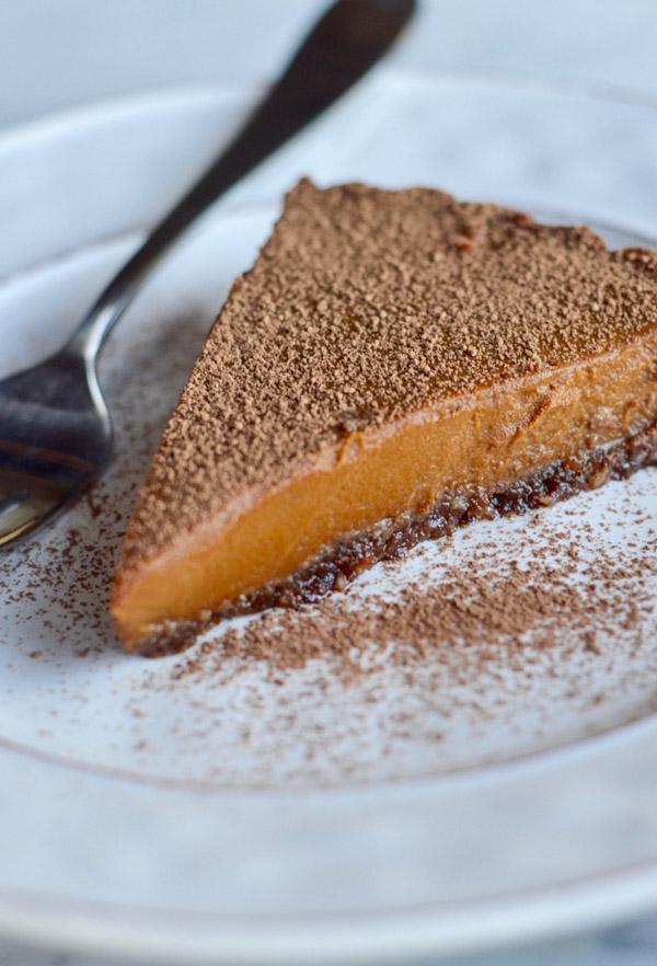 Vegan Chocolate Pumpkin Tart