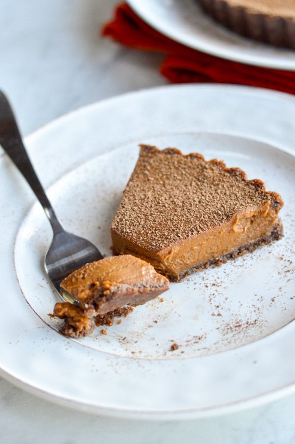 Vegan Pumpkin Chocolate Tart