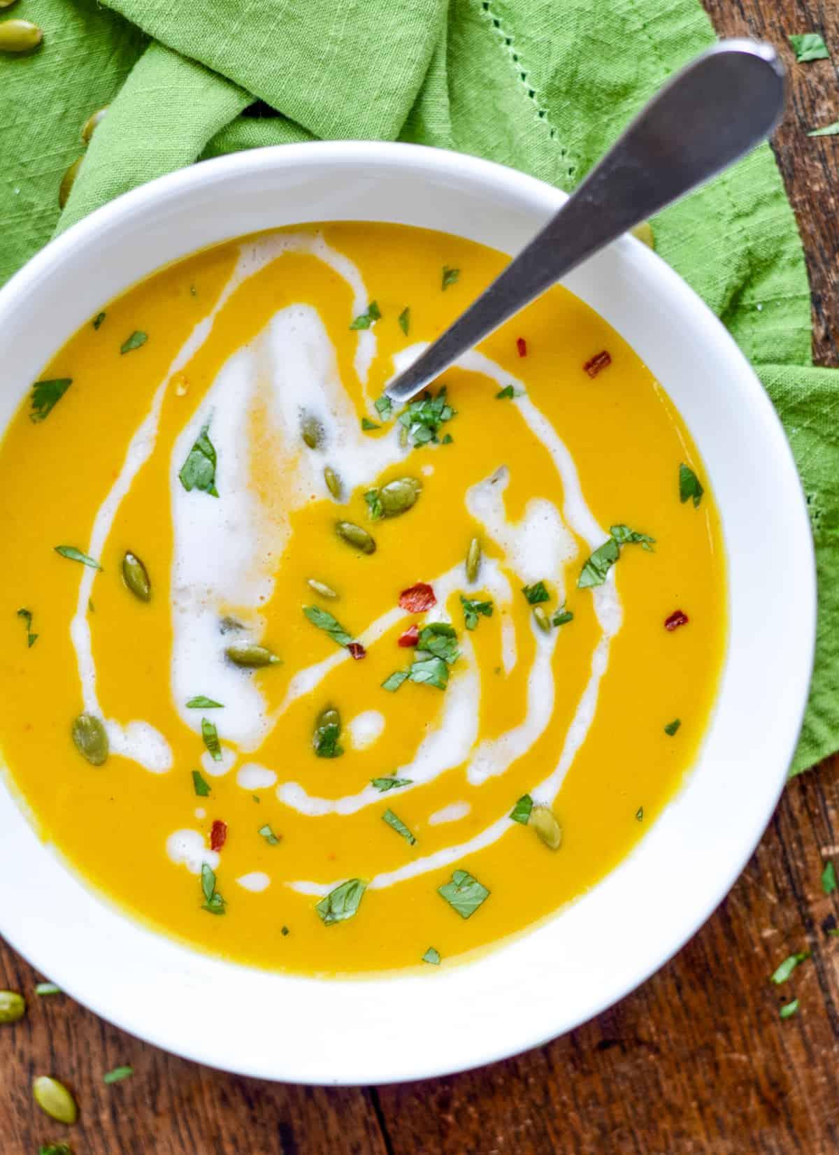 Thai Pumpkin Soup bowl alone
