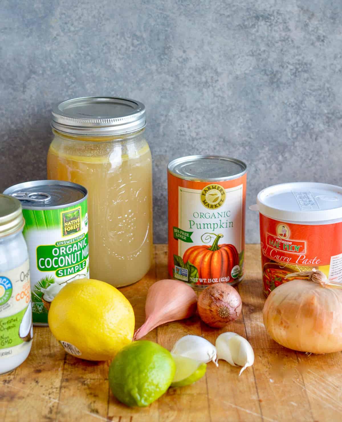 Thai Pumpkin Soup ingredients