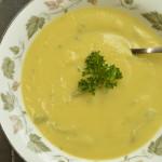 Creamy Asparagus Soup with Saffron