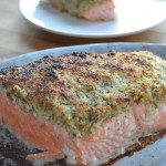 Salmon with Almond Dill Horseradish Crust