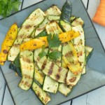Grilled Zucchini with Garlic and Parsley