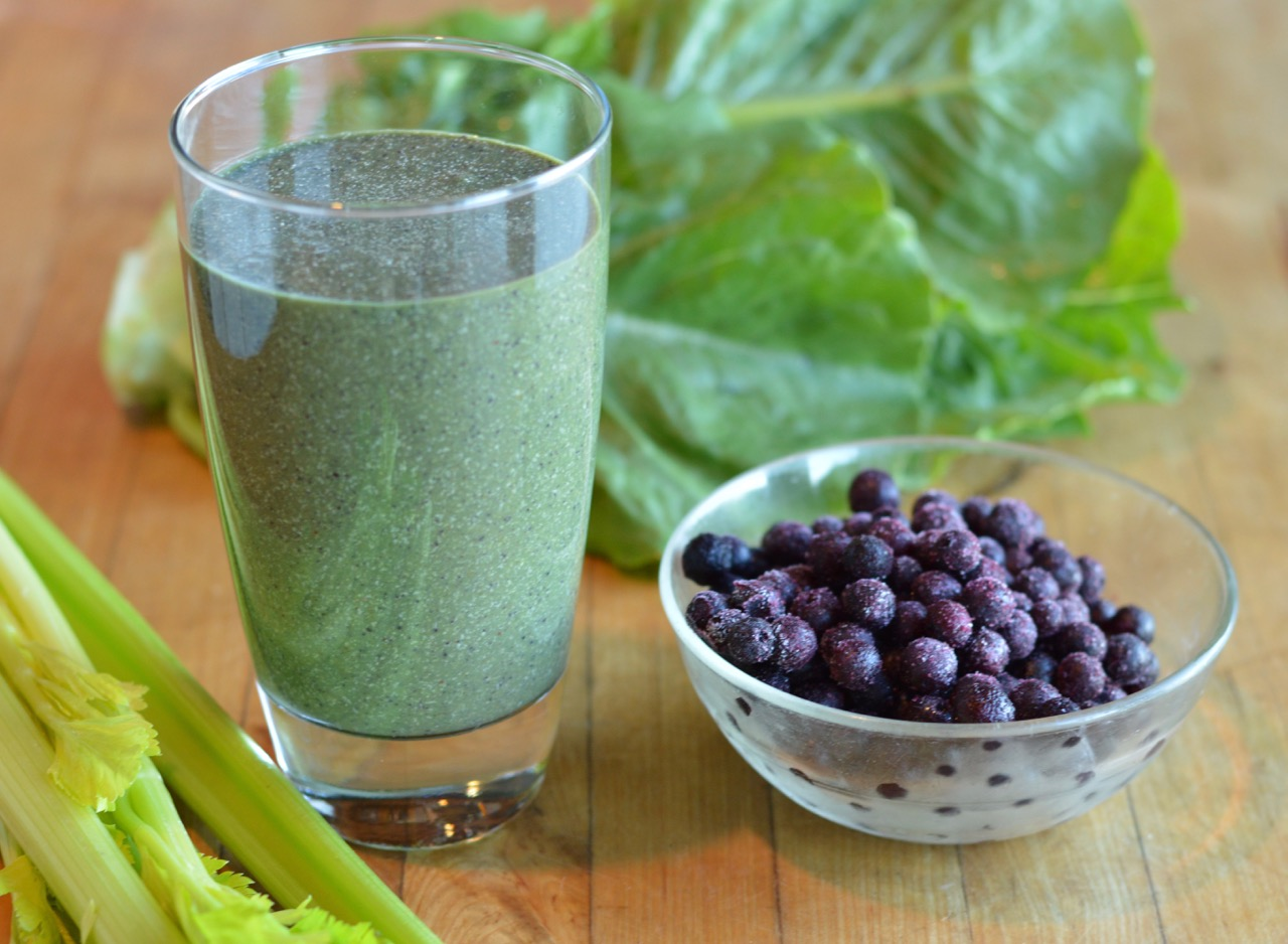 High Protein Blueberry Coconut Green Smoothie