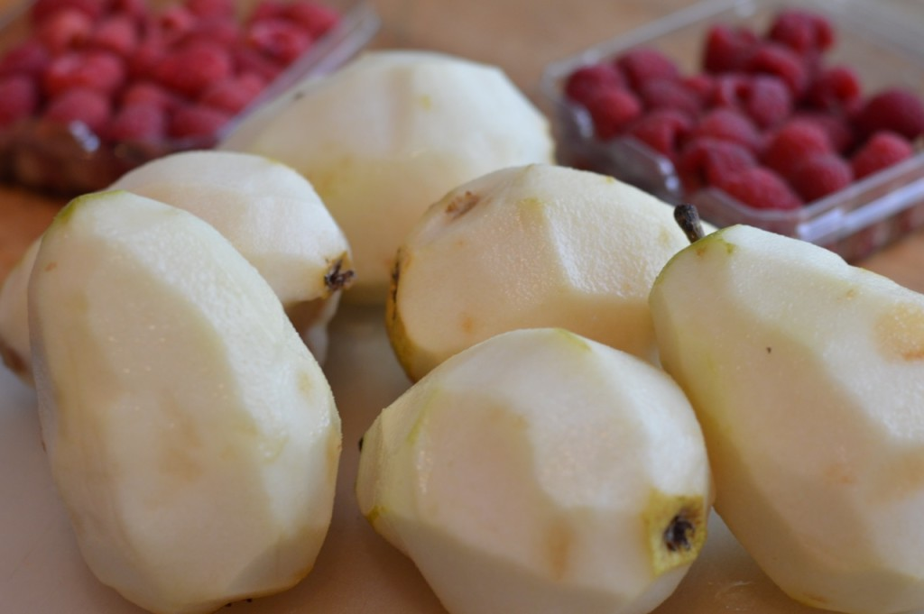 pear cobbler pears 2