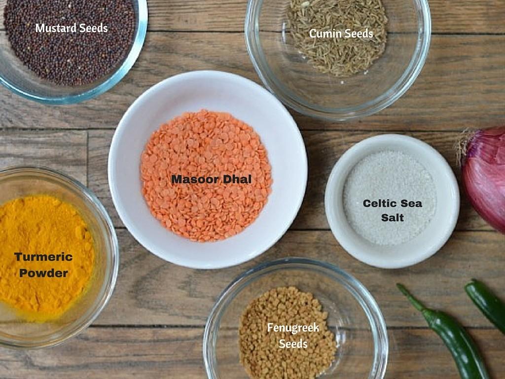 Sri Lankan Dhal Ingredients
