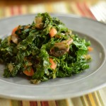 Sautéed Kale with Mushrooms and Carrots
