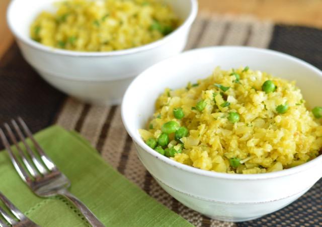 Cauliflower Risotto with Saffron and Peas