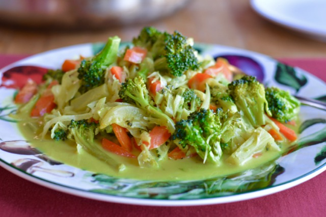 Coconut Curried Broccoli and Carrots 1
