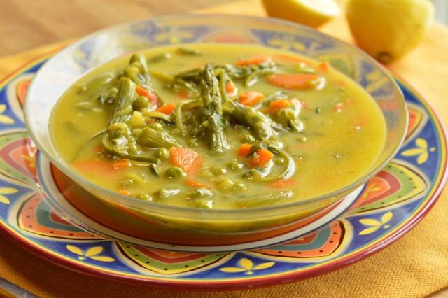 Spring Saffron Vegetable Soup