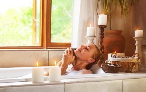 Woman in bath dreamstime