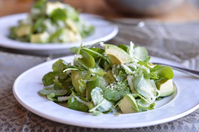 watercress avocado salad