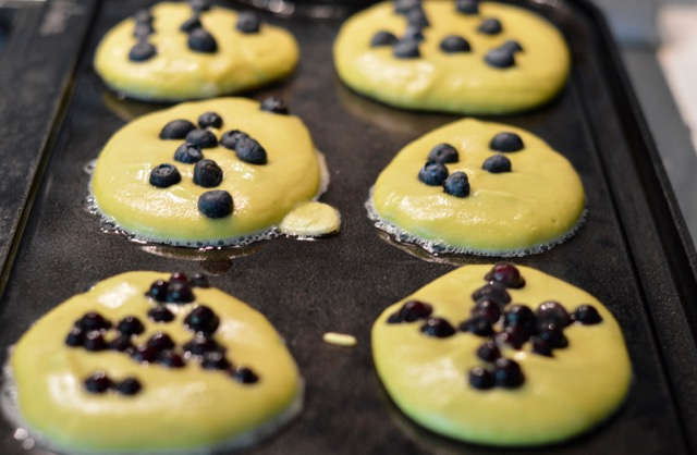 Avocado Blueberry Pancakes Griddle
