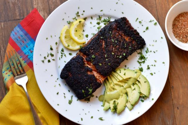 Blackened Salmon with Avocado
