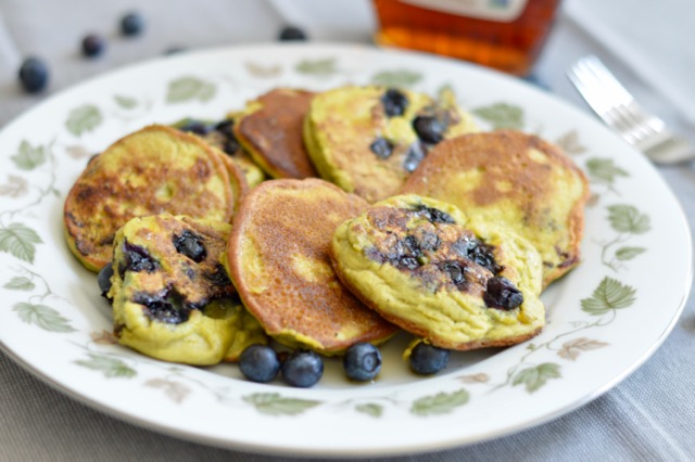 Avocado Blueberry Pancakes