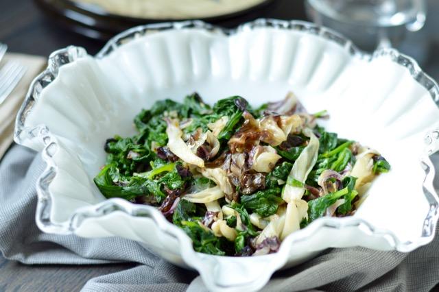 Sauteed Kale and Radicchio