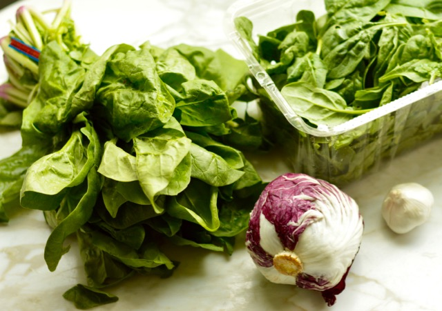 Spinach and Radicchio Ingredients