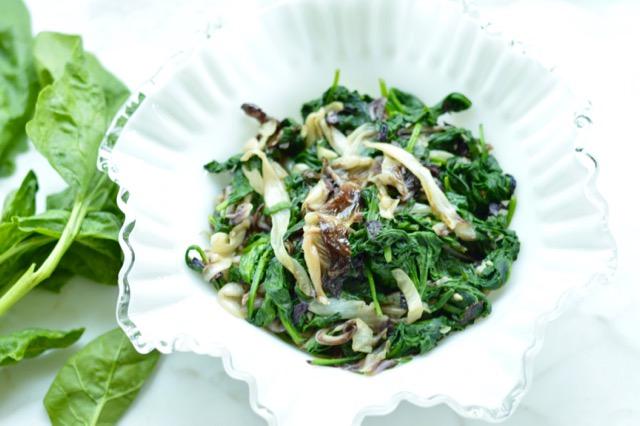 Sauteed Spinach and Radicchio