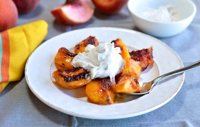 Grilled Sweet and Spicy Peaches