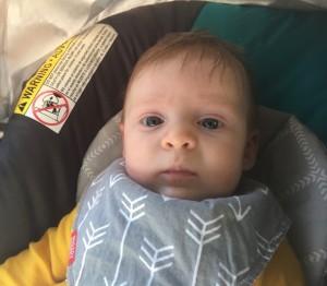 Avery Sept 25, 2016 in car