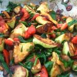 Sauteed Patty Pan Squash with Tomatoes & Basil