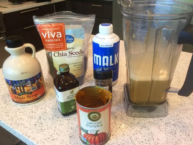 Pumpkin Chia Pudding Ingredients
