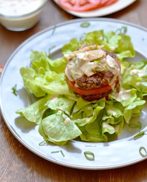 Zucchini Black Bean Burger Plate
