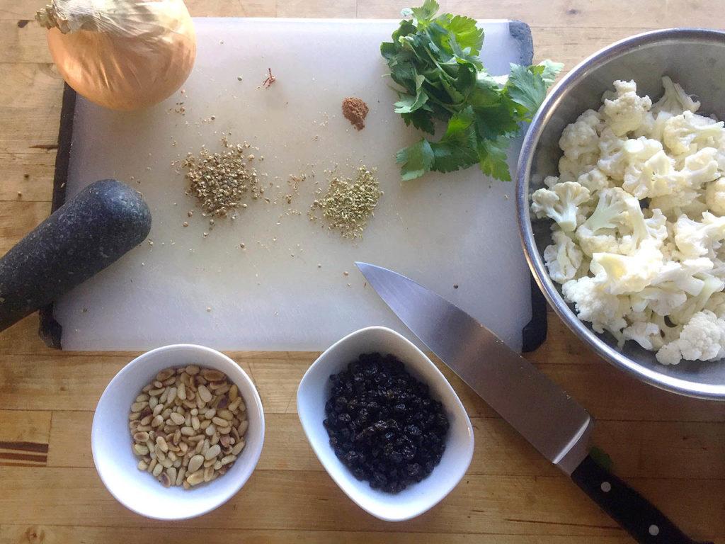 Moroccan Cauliflower Ingredients
