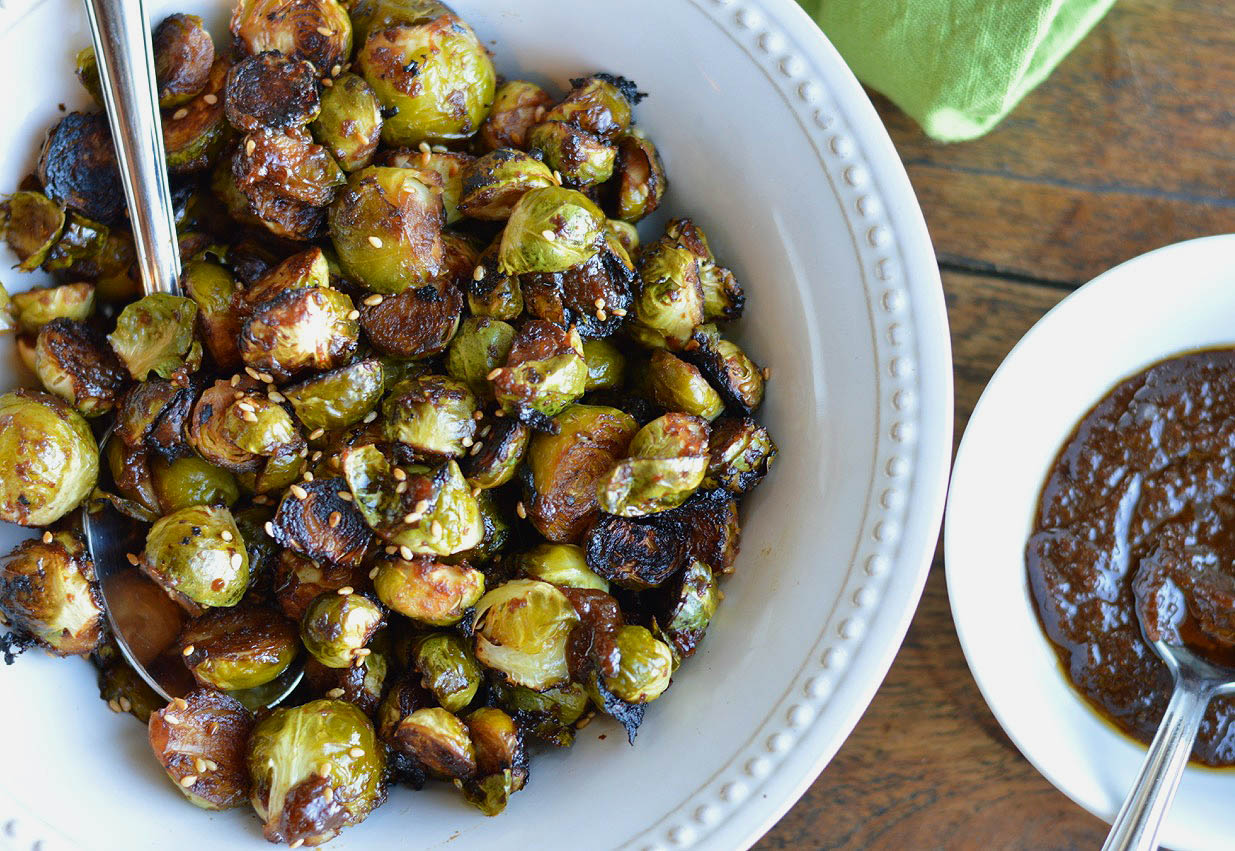 Roasted Miso Brussels Sprouts