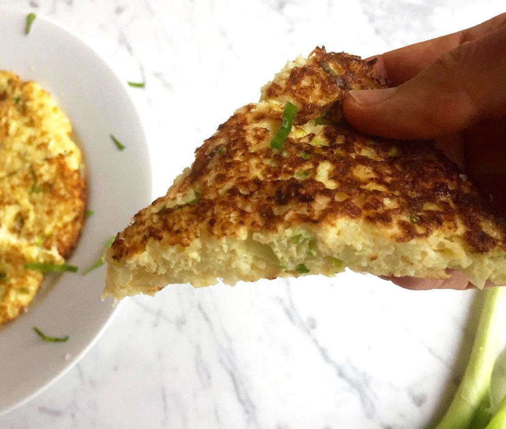 Scallion Pancake close 2