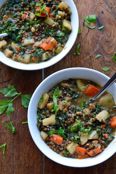 Winter Vegetable Lentils