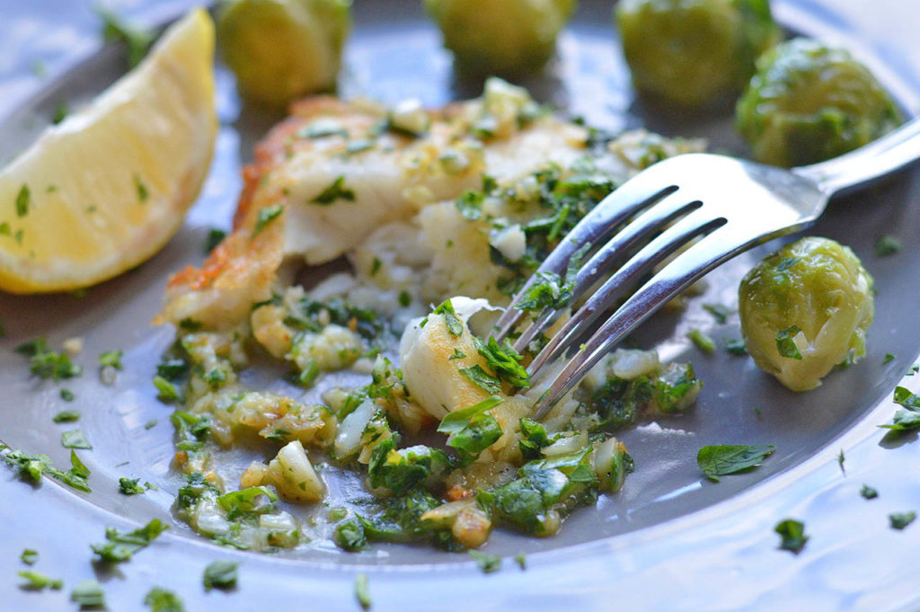 Simple Sauteed Fish with Garlic