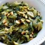 Braised Escarole with Garlic