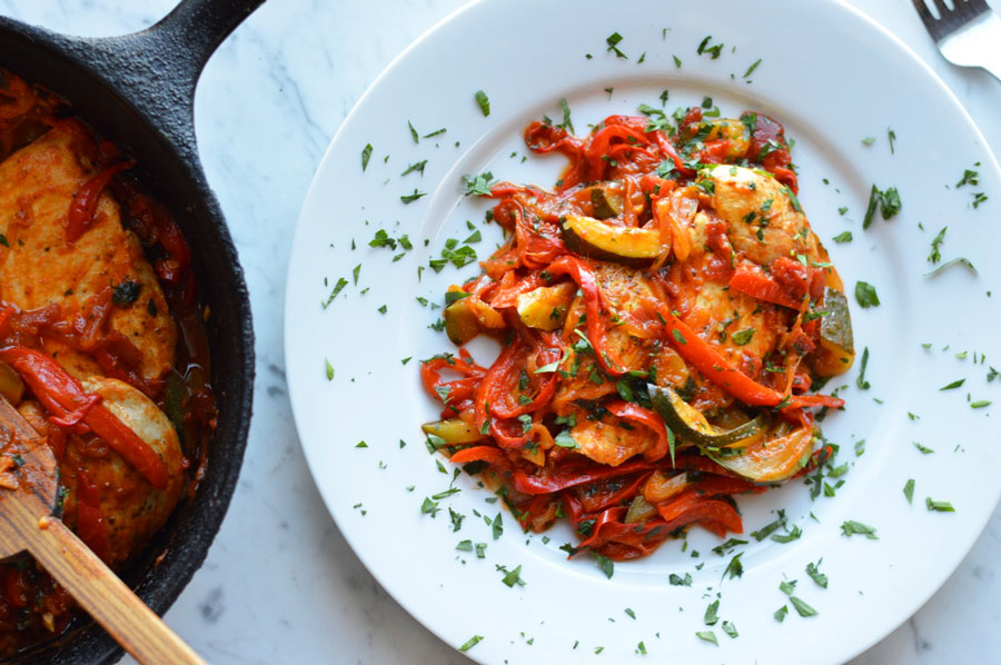 Mediterranean Chicken with Saffron