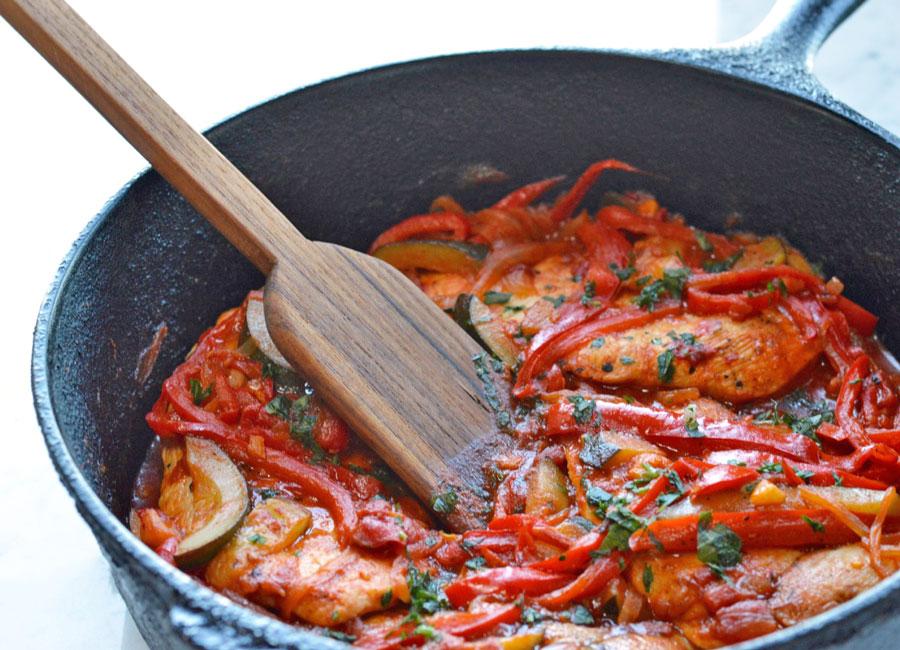 Mediterranean Chicken with Saffron