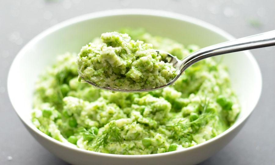 Green Cauliflower Mash