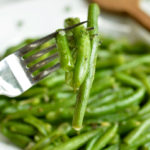 5 Minute Green Beans with Garlic & Thyme