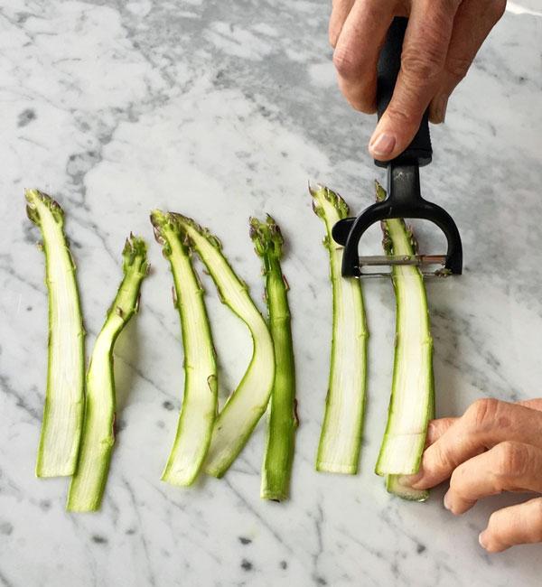 Vegan Pesto Asparagus Noodles with Peas
