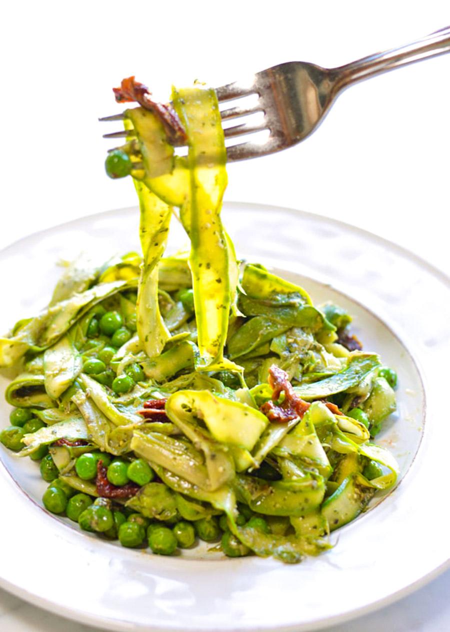 Vegan Pesto Asparagus Noodles