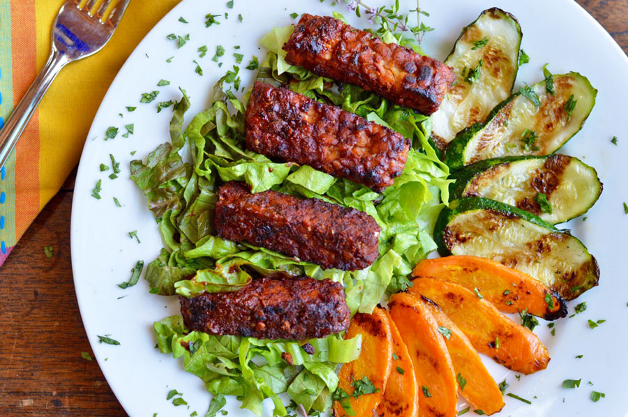 Marinated Grilled Tempeh