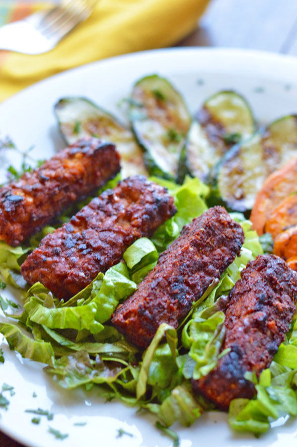 Grilled Marinated Tempeh