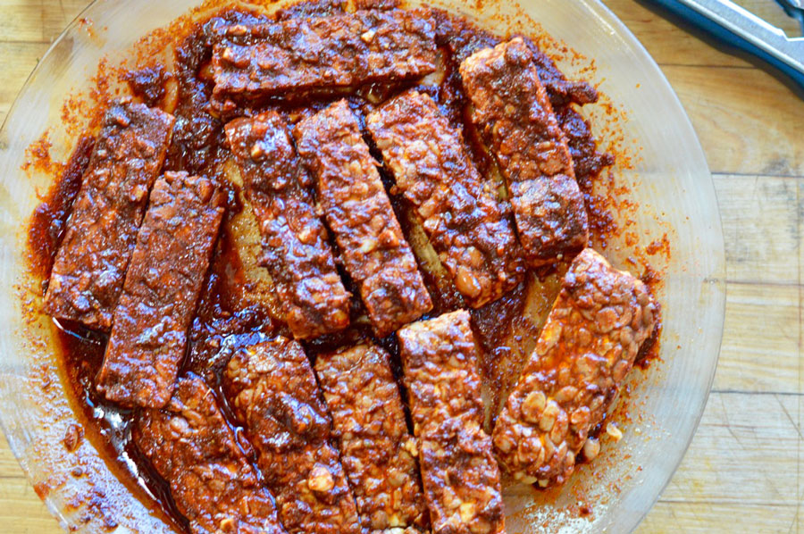 Grilled Barbecued Tempeh