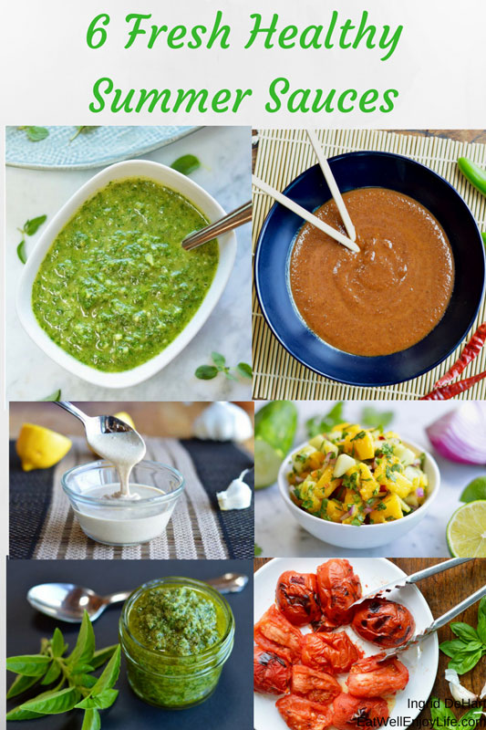 6 fresh healthy summer sauces