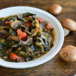 Southern Style Vegan Collard Greens Mushrooms