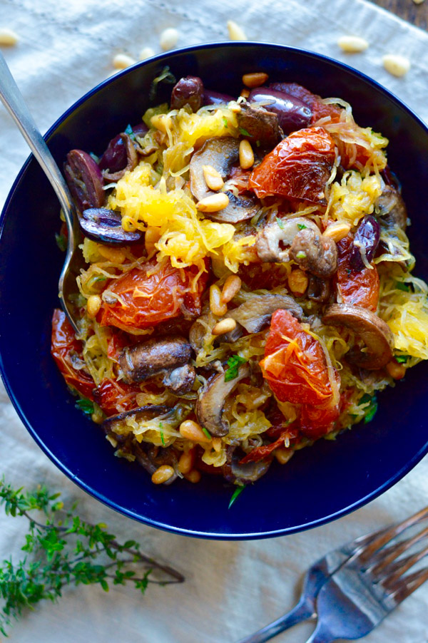 Spaghetti Squash with Roasted Tomatoes