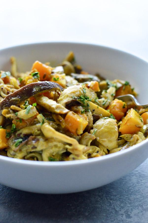 Wild Mushroom and Butternut Squash Curry