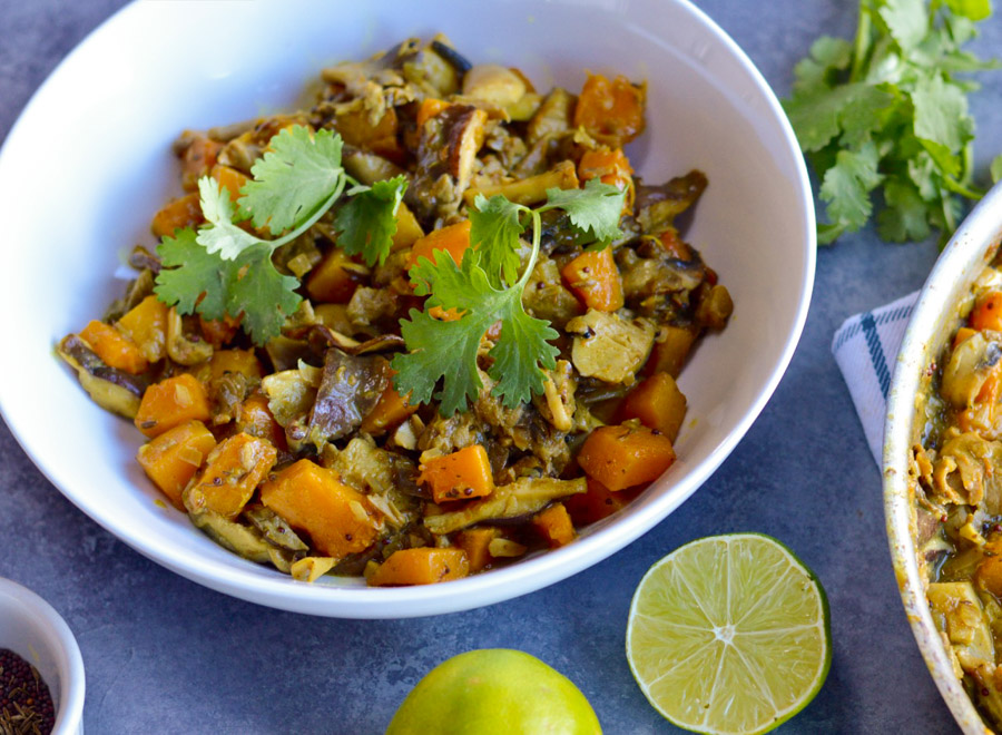 Wild Mushroom and Butternut Squash Curry
